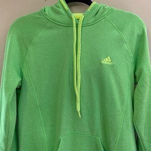 Adidas climawarm hoodie neon green size M